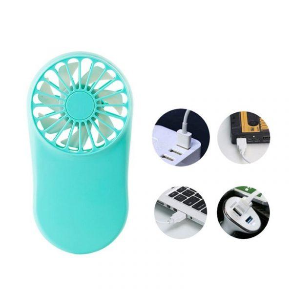 Slimline Rechargeable USB Mini Fan | Portable Pocket Cool Air Hand Held Mini Fan