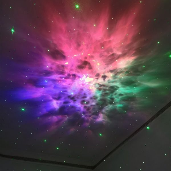 Galaxy Projector Holographic Laser Night Light | LED Starry Nebula Ambience
