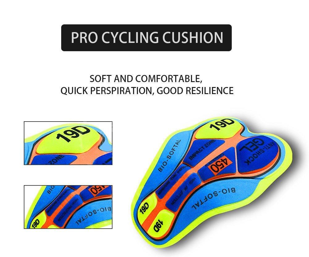 QUICK·STEP Cycling Bib Shorts 2021 Summer MTB Bike Shorts Men's Cycling Tights Racing Bib Breathable Shookproof Bicycle Trousers Sport and Recreation Cycling