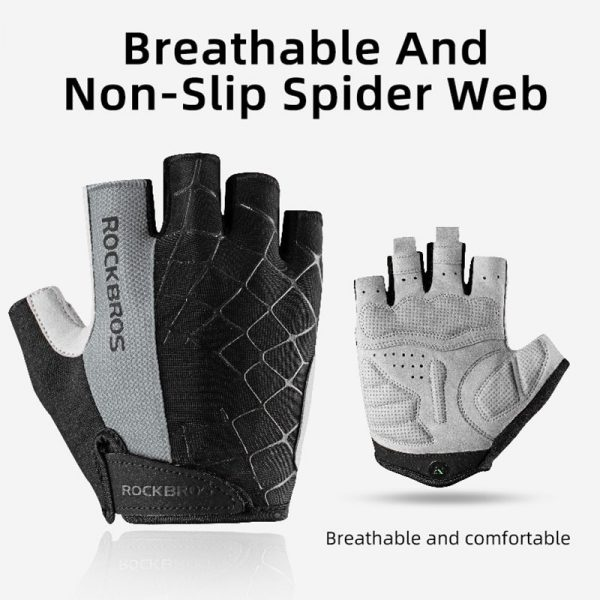 Design First Spring Summer Padded Cycling Gloves