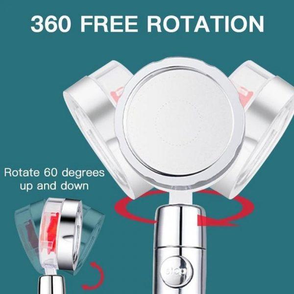 New HELIX Spray Shower Head Turbofan Design | Increase Shower Pressure